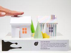 papieren huis met electro verf