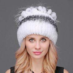 Women S Fashion Stores New Zealand Code: 2901437990 Rabbit Fur Hat, Rex Rabbit, Fedora Hat Women, Women Hats, Knit Beanie, Knitted Beanies, Beanie Hats, Winter Hats For Women, Knit Fashion