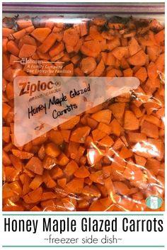 Honey Maple Glazed Carrots Freezer Meal Side Dish