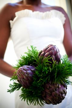 Not the artichokes (HAHA) but the princess of the forest or w/e t/green stuff is called is kinda neat...and would hold up great