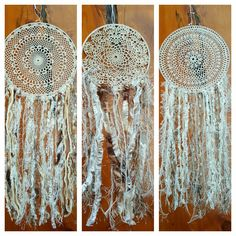 Dream catchers made from vintage crochet doillies