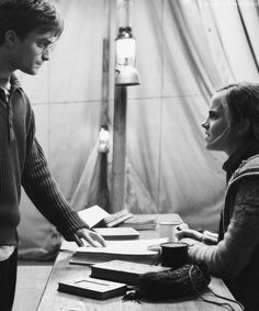 Harry and Hermione prove that a boy and a girl can really be JUST friends. THANK YOU.