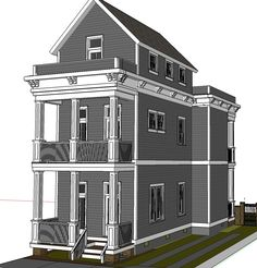 2 story garden house style workshop new orleans garden style houses pinterest gardens - Two story gable roof houses ...