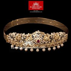 Stunning gold vaddanam collections by Kameswari Jewellers. Shop online from South India's finest traditional jewellers. Gold Earrings Designs, Gold Jewellery Design, Gold Designs, Bridal Jewellery, Mughal Jewelry, Vaddanam Designs, Waist Jewelry, Gold Jewelry Simple, Fine Jewelry