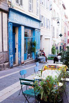 Au Vieux Panier Marseille Marseille France, Provence France, Paris France, Avignon France, Places To Travel, Places To Go, Sidewalk Cafe, Belle Villa, Boutiques