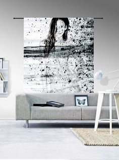 Pure wood - Verbind je lossen meubels met die mooie grote wandkleed Storm waardoor je een warm en geheel gevoel krijgt in huis.