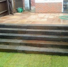 Steps made from Reclaimed Sleepers