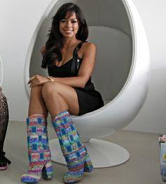 Die Brasilianerin Fernanda Brandao liebt ausgefallene Schuhe.© PR
