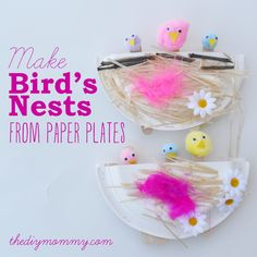 Super cute springtime craft. I could see this being adapted for a Noah's Ark craft for preschool Sunday School.