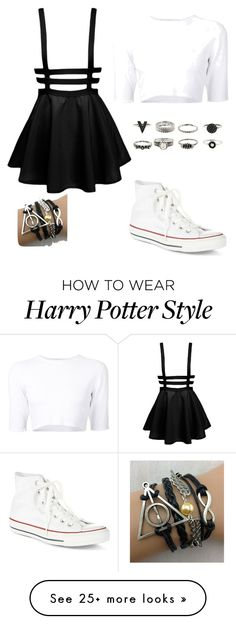 """School"" by creep-queen19 on Polyvore featuring Dion Lee and Converse"