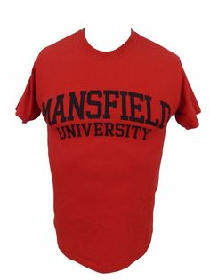 Mansfield University T Shirt Size S Small Ask Me Red #MVSports #GraphicTee