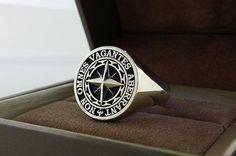 Custom Signet Rings, Family Crest Rings & Coat of Arms Rings Mens Gemstone Rings, Mens Silver Rings, Silver Jewelry, Rings Cool, Unique Rings, Bape, Custom Signet Ring, Family Crest Rings, Urban Jewelry