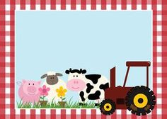 Free Printable Farm Party Invitations, Labels or Cards. Farm Animal Party, Farm Animal Birthday, Barnyard Party, Farm Birthday, Birthday Party Invitations Free, Birthday Party Themes, Party Labels, Farm Theme, Party Kit