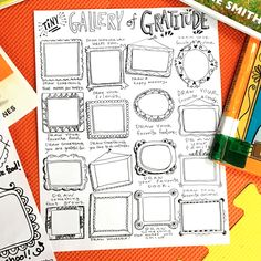 Cassie Stephens: In the Art Room: Tiny Gallery of Gratitude Cassie Stephens, Drawing Sheet, Art Worksheets, Virtual Art, Collaborative Art, Art Lessons Elementary, Art Classroom, Flipped Classroom, Classroom Ideas