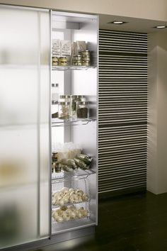 VIBO _ PANTRY SHELF (Available with wire, mat glass or white HPL bottom, add value to your cabinet! Easy to clean and modern in the design.)