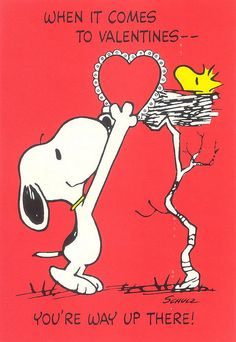 SNOOPY & WOODSTOCK~When it comes to Valentines