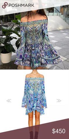 ee2e9419789 Camilla blue market a line drill dress Brand new a line grill blue market  dress 2017