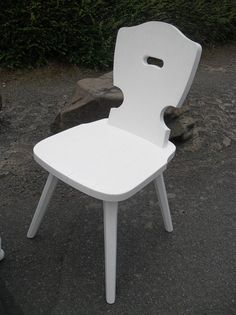 Stühle - Stuhl Weiß Shabby Holz Landhaus 2stück vorhanden - ein Designerstück von Die-Ideenschmiede bei DaWanda