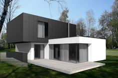 Srebrne Stawy - villa development. Two-storey house, Bytom, Poland