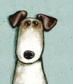Rufus the dog--Cally Jane Studio