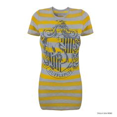 Hufflepuff House Crest™ Striped T-Shirt | Adults | Warner Bros Studio Tour London