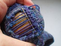 Darning Tutorial - this would be the same principle for darning any hole