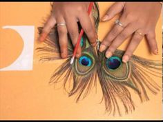 ▶ How to Make a Peacock Feather Hair Pin - YouTube