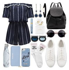 """""""take me with you"""" by isabellaobrien14 ❤ liked on Polyvore featuring WithChic, Witchery, S'well, Michael Kors, Skinnydip, Yeah Bunny, Nine West, Estée Lauder and Marc Jacobs"""