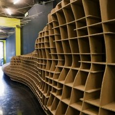 LOW, a bar in Lisbon by Pedro Costa, realized with recycled cardboard.