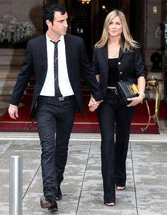 Jennifer Aniston and Justin Theroux have dinner at 'Le Jules Verne', at the Eiffel Tower, in Paris, France, on June 13 2012. ~ Impeccable...