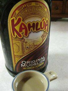 A bottle of Kahlua, looks pretty fine I guess