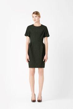 Sculpted pleat dress