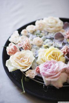 crystalised flowers