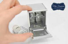 Miniature dishwasher #miniaturekitchen #miniaturefurniture
