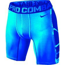 "Nike Mens 6"" Hypercool Pro Combat Fitted Compression Grid Camo Shorts Was $45"