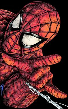 spider man close up