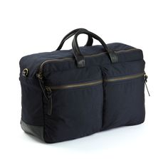 Marcus Trip Navy | WAXED CANVAS | LEATHER |STYLISH BAGS | CLASSIC DESIGN | MEN'S BAGS | TRAVEL |