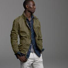 Mens Fall Fashion 2011 Military Inspired Jacket Coat J Crew