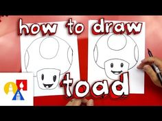 How To Draw Toad From Mario - Art for Kids Hub