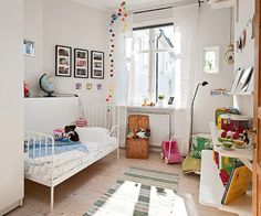 nordic kids room with natural colors. Nordic style for children. Simple living spaces for kids. farmhouse style for kids room. Swedish Interior Design, Swedish Interiors, Interior Designing, Nordic Design, Scandinavian Design, White Kids Room, Casa Kids, Ikea Interior, Cool Kids Rooms