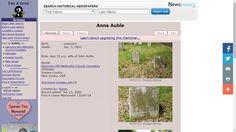 Genea-Musings: Tombstone Tuesday - Anna (Row) Auble (1787?-1860?)