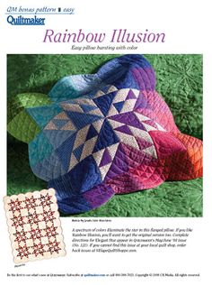 A spectrum of colors illuminate the star in this flanged pillow:Rainbow Illusion
