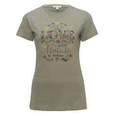 Barbour Ladies Love Nature Tee Dusty Green | naylors.com