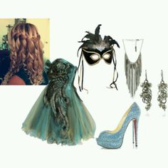 masquerade outfit. A lovely young lady had this whole thing put together and I thought it was super cute