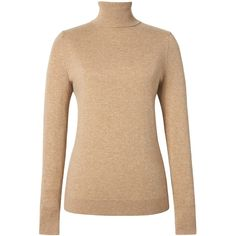 Feather Touch Turtleneck (434775 PYG) ❤ liked on Polyvore featuring tops, sweaters, turtleneck top, beige turtleneck sweater, feather top, beige top and beige sweater