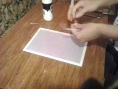 Como colar tecido no fundo dos quadros de meia pérola