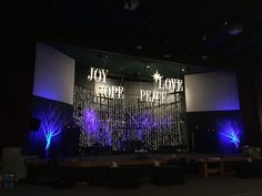 Words Over Stars from FCC Santa Maria in Santa Maria, CA | Church Stage Design Ideas