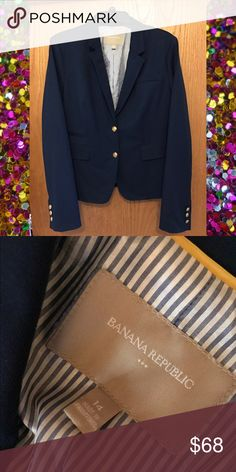 Banana Republic Size 14 Blazer Beautiful!! Navy blue with gold buttons! Banana Republic Jackets & Coats Blazers