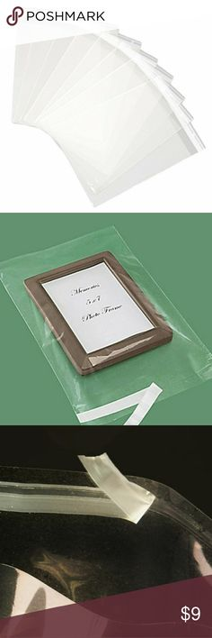25 pc 9x12 Inch Clear Resealable Cello Bags I love shipping these and customers love receiving O because you can actually see the product typically I said clothes books and other products and this cellophane bags 9x12 Inch Clear Resealable Cello Bags - Tape on Lip (Flap) set of 25 Other