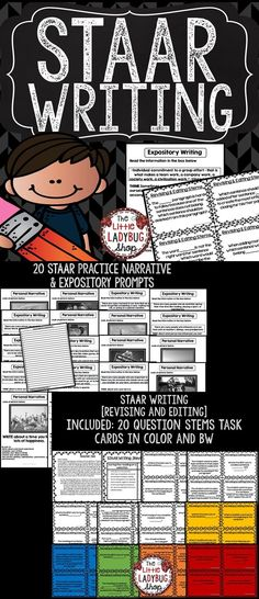 STAAR Writing SET includes all my STAAR Expository and Narrative Writing Prompts and Revising & Editing Stems. I used this tool will help your students prepare for the STAAR Writing test.